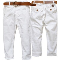 3615 Pants Boys Girls Children S Pants Soft Casual Kids Trousers Spring Autumn White Boy Girl
