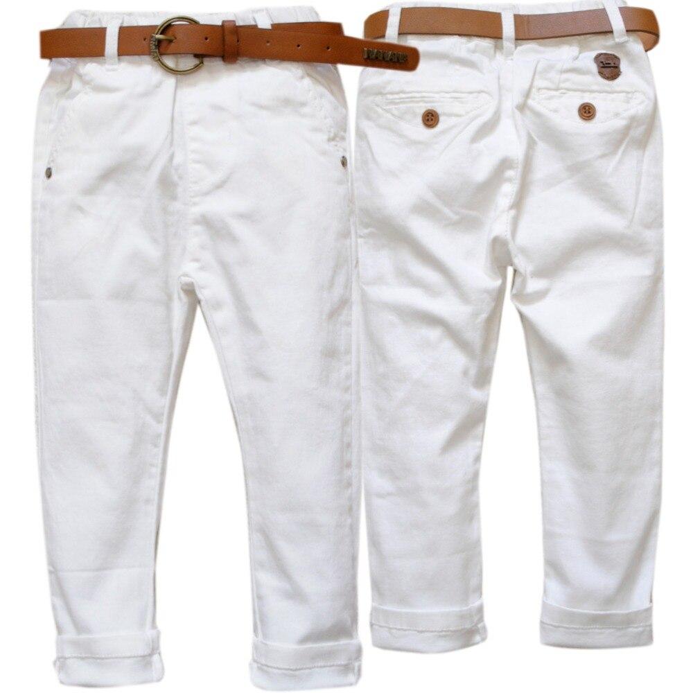 ⑧4107 niños muchachos regulares lápiz blanco niñas pantalones ...