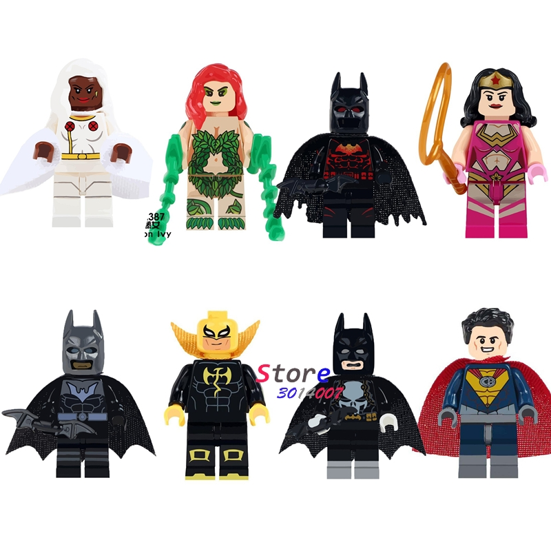 Один DC Marvel Герой Бэтмен Ядовитый плющ Wonder Woman Супермен железный кулак Storm строительные блоки кирпичи игрушки для детей ...