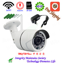 Outdoor XM Reset WIFI 1080P H.265 Security Camera Motion Alarm ONVIF P2P IP Cam IR CUT CCTV 128G SD Card Metal