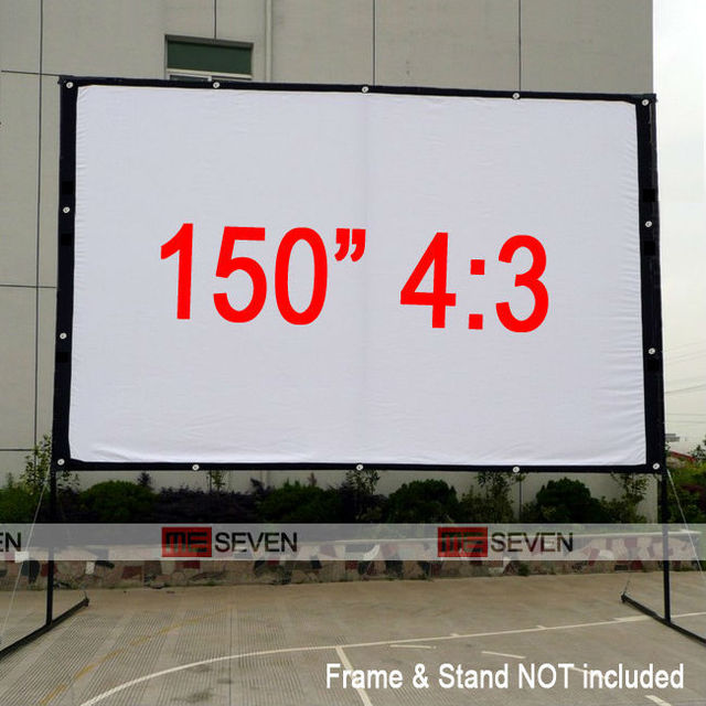 150 inches 4:3 Big Size HD High Quality Canvas Projection Screen for ...