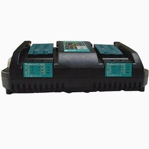 Image 5 - Двойное зарядное устройство для Makita 14,4 V 18V BL1830 Bl1430 DC18RC DC18RA EU Plug