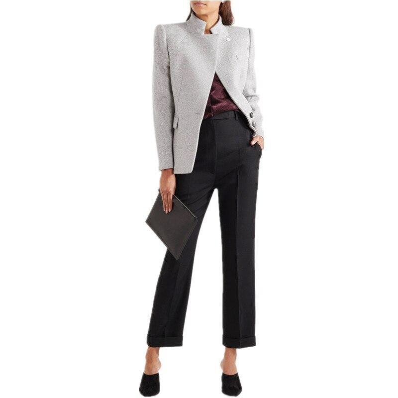 Simple Slim Casual Femmes Printemps Blazer Classiques Feminino Solid Unique Manteau Bouton Automne Classique Nouvelles Veste 2019 TSq8xYY