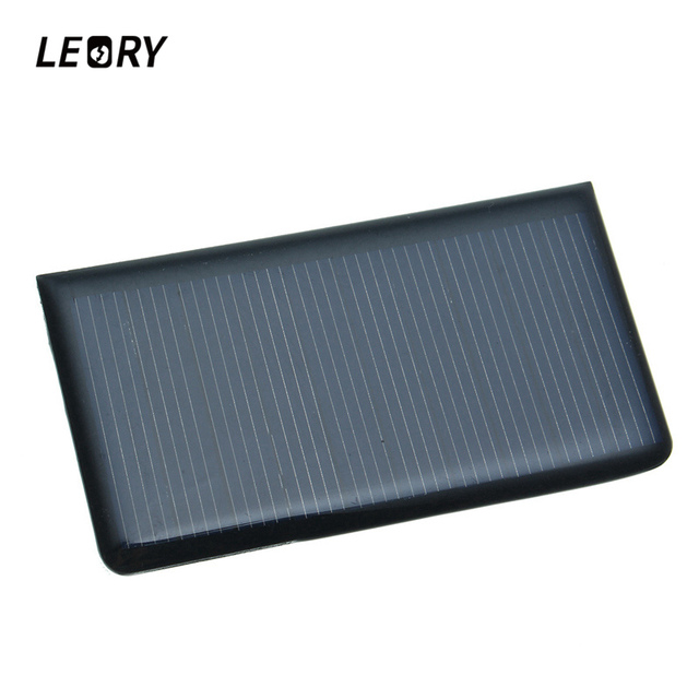 LEORY 5V 0.3W 60mA DIY Mini Solar Epoxy Resin Plate Solar Cell Battery Solar Panel Power Charger Led Solar 5 Pcs