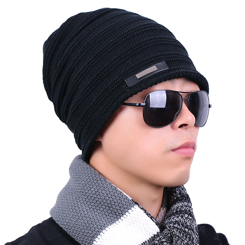 Beanies Hats For Men Winter Cap New Knitted Hat Female Skullies Fur Warm Masculino Casquette Toca Hats Gorros De Lana Gorras knitted winter warm female hat rabbit fur beanie cap woman chunky baggy cap skull gorros de lana mujer bonnet femme beanies cap