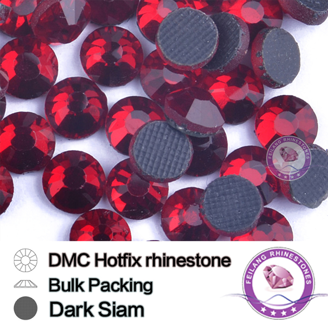 Dark Siam Clear Crystal Strass stone HotFix Rhinestone Bulking Packing For Garments Bags And Shoes Correction Rhinestones