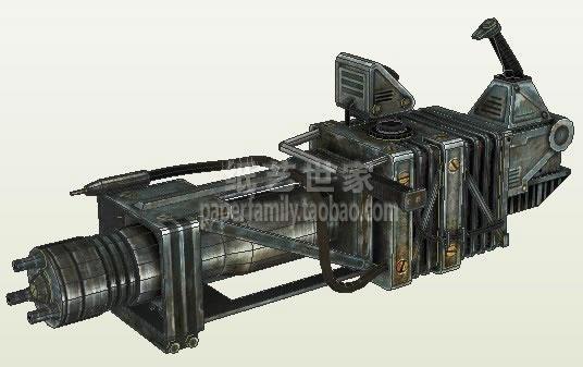 Pistolet Laser vert mitrailleuses lourdes sac à dos balle boîte 1: 1 papier modèle bricolage