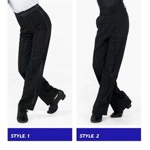 สีดำละตินที่ทันสมัยห้องบอลรูมประสิทธิภาพกางเกงชายกางเกงเต้นแบบละติน