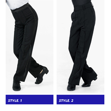 Black Latin Modern Ballroom Performance Trousers Boys Men Latin Dance Pants