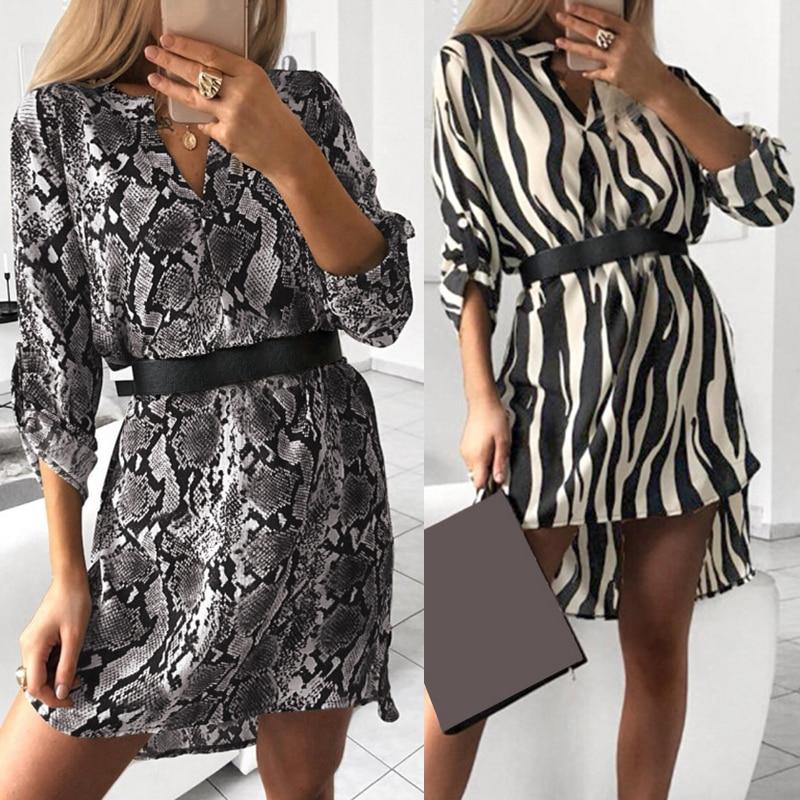 64648eae471 Полосатое платье-рубашка с v-образным вырезом и отложным воротником ...