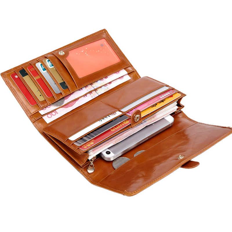 Женский кошелек, роскошный бренд, женские кошельки и кошелек, длинный держатель для кредитных карт, клатч из натуральной кожи, женский клатч на молнии, carteira feminina