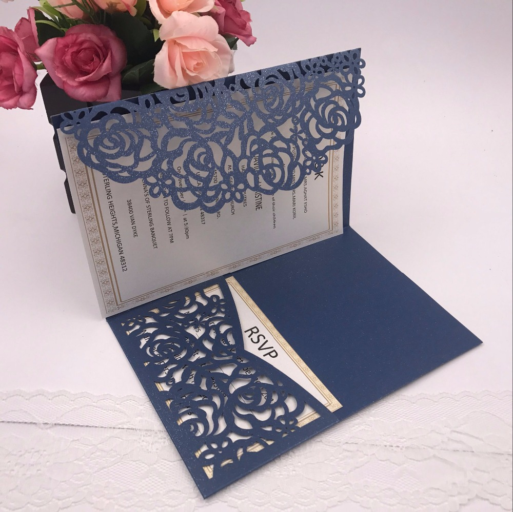 aliexpress com buy 1pcs sample graceful rose flowers trifold laser