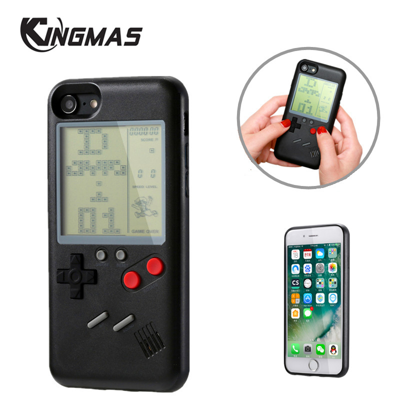 Retro Play Tetris game Phone Case for Apple iPhone 6 6s Plus 7 8 Plus iPhone X shell Gameboy iPhone cover coque Gift For Child