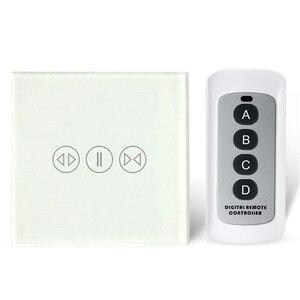Image 4 - Akıllı ev perde anahtarı elektrikli perde dokunmatik uzaktan kumanda sensörü anahtarı