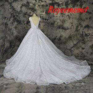 Image 4 - Vestido דה Noiva תחרה נוצצת חתונה שקוף למעלה מיוחד תחרה חתונה שמלת תפור לפי מידה מפעל סיטונאי מחיר כלה שמלה