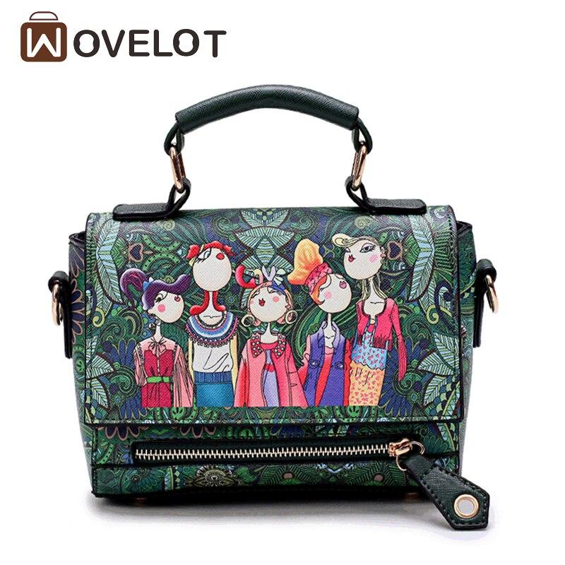 Новый Брендовая Дизайнерская обувь женские сумки зеленый лес мультфильм печати изображен ...