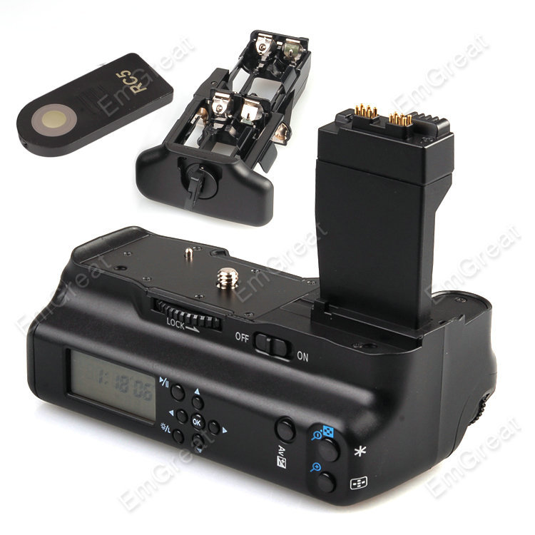 Meike ЖК-батарейный блок держатель с ИК-пультом дистанционного управления для Canon EOS 550D 600D 650D 700D как LP-E8 B4K