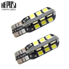 2X W5W T10 LED Car Light Canbus 194 Auto Bulbs Styling Warm White Ice Blue For honda accord civic2008 jazz city fit