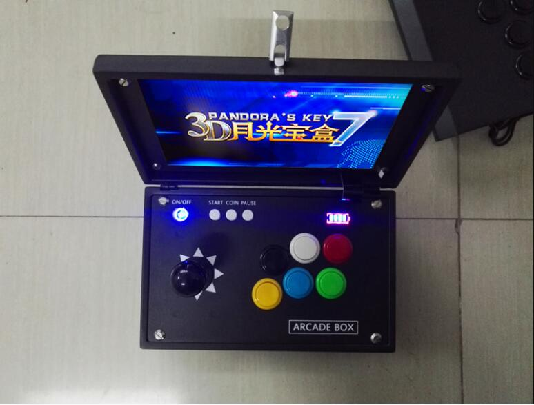 10  Inch Pandora 6S Mini Arcade Console 2000 Games Zero Delay Joystick Buttons PCB Board Retro Video Game Box Machine