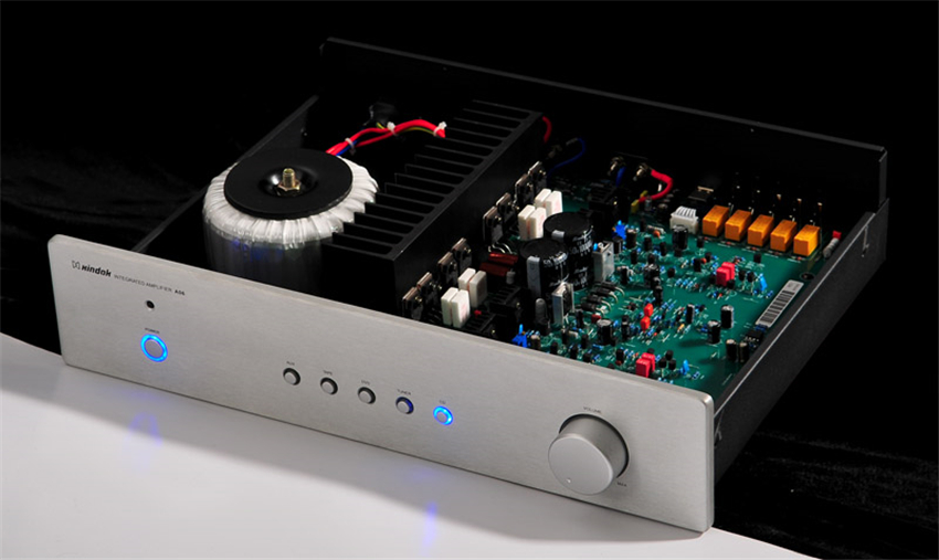 QUEENWAY HIFI AUDIO A06 Integrated Amplifier High-End Power Amplifier AMP Support Remote Control 80W (8ohms)