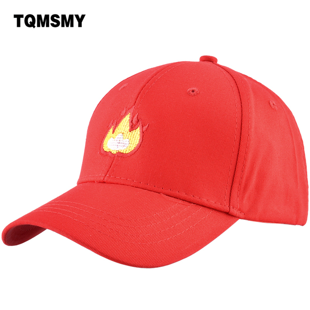 TQMSMY 100% algodón hombres gorra de béisbol mujeres fuego bordado Snapback  Caps caza papá sombrero cd1b1c06f2a
