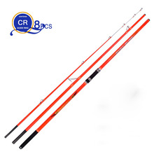 wholesale 2pcs/pack 4.2M 3 Insert sections Pure Carbon Fiber Beach Long Casting Far Shot Distance Throwing Surf Carp Rod