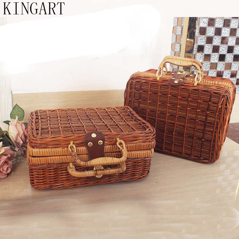 Women Bamboo Mala Maquiagem Plastic Picnic Storage Baskets Cute Lady Suitcase for Makeup Or Lady Maleta plastica For property