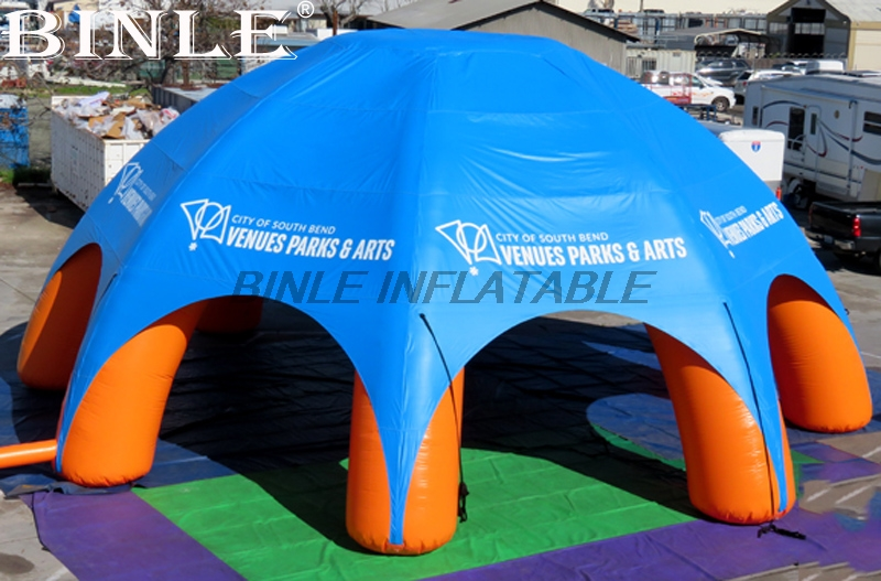 Waterproof 12m 40ft diameter giant pavilion inflatable spider tent event station gathering dome marquee with 8 legs