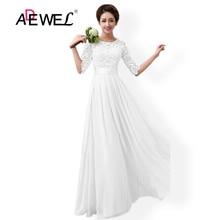 2016 New Women Elegant Lace Dress Long Maxi Dresses Hollow Out Chiffon Half sleeve Evening Wedding Party Dress Plus Size 3XL