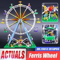 DHL LEPIN 15012 2518Pcs City Expert Ferris Wheel Model Building Kits Blocks Bricks Toys Compatible with legoed 10247