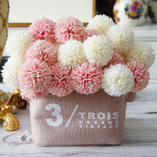 Artificial Dandelion Flowers Small Pom-pom Romantic Fake Flower Branch Wedding photography DIY Christmas Home Decoration