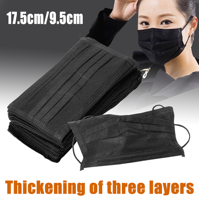 50pcs Disposable Non Woven Face Mask Anti-Dust Mouth Flu Mask For Face Outdoor