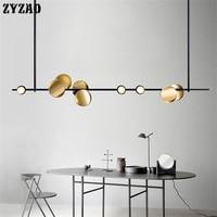 Nordic Eisen Kunst Einfache Anhänger Lampe Wohnzimmer Home Decor Luxury Streifen Anhänger Lichter Esszimmer Küche Lichter Hängen Lampen-in Pendelleuchten aus Licht & Beleuchtung bei