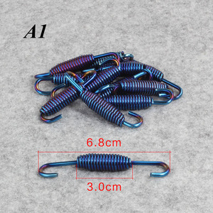 2 pcs Universal Motorcycle Exhaust System Springs Fully Rotatable Stainless Steel Springs Hooks(China)