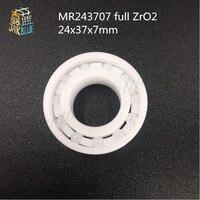 MR24377 MR2437 2RS 24377 MR2437LLB MR243707 full ZrO2 ceramic bearing 24x37x7mm bike wheel hub bearing for BB90