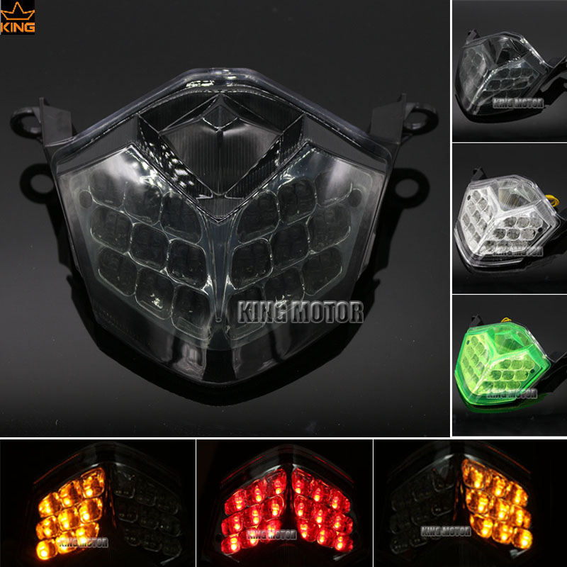 Motorcycle Accessories Integrated LED Tail Light Turn signal Smoke For KAWASAKI ZX-10R 2008-2010 ZX-6R/636 Z750 Z1000 motoo motorcycle new cnc aluminum fuel gas caps tank cap tanks cover with rapid locking for kawasaki z750 z1000 zx 10r zx 9r