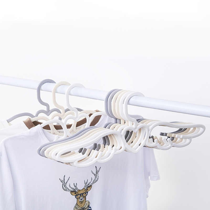 Clothes Hanger Creative Cute Angel Wings Plastic Adult Clothing Scarf Ties Rack
