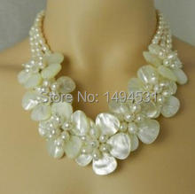 New Arriver Handmade Flower Jewelry Natural Freshwater Pearl Mop Shell Bridal Wedding Jewelry – Free Shipping