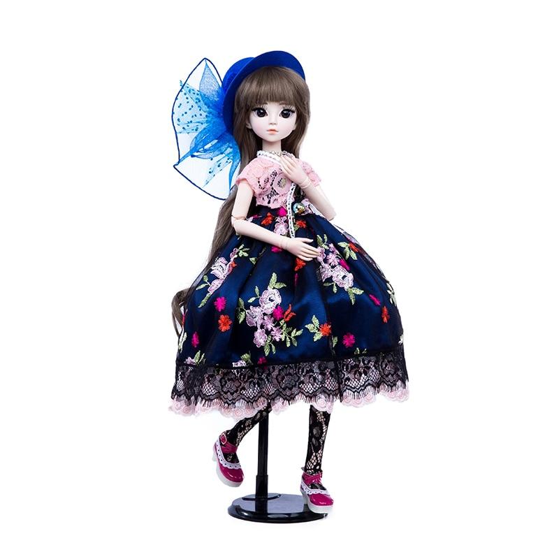 공주 안나 1/3 60 cm bjd sd 인형 드레스와 함께 새로운 도착 가발 쇼 모자 메이크업 아름다운 꿈 소녀 장난감-에서인형부터 완구 & 취미 의  그룹 1