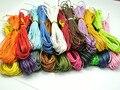 200 М Смешанный Цвет Навощенные Хлопок Бисероплетение Шнур 1 мм для Браслет Ожерелье 20 Цвет