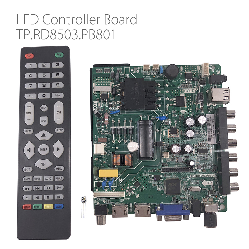 TP RD8503 PB801 HD LCD LED driver board LED screen TV board with Remote Controller Dual