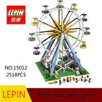 גלגל ענק LEPIN 15012 עיר 2518 יחידות מומחה דגם בניין ערכות צעצועי לבנים בלוקים תואם עם Legoingly 10247