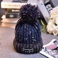 Fashion Women Cap Han Edition Cute Lady Winter Keep Warm Earmuffs Thickening Casual  Ball Color Matching Knitting Hat Outdoor