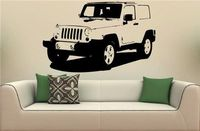 2016 New JEEPS WRANGLER Rubicon Sahara Wall Art Sticker Decal 22X38inch