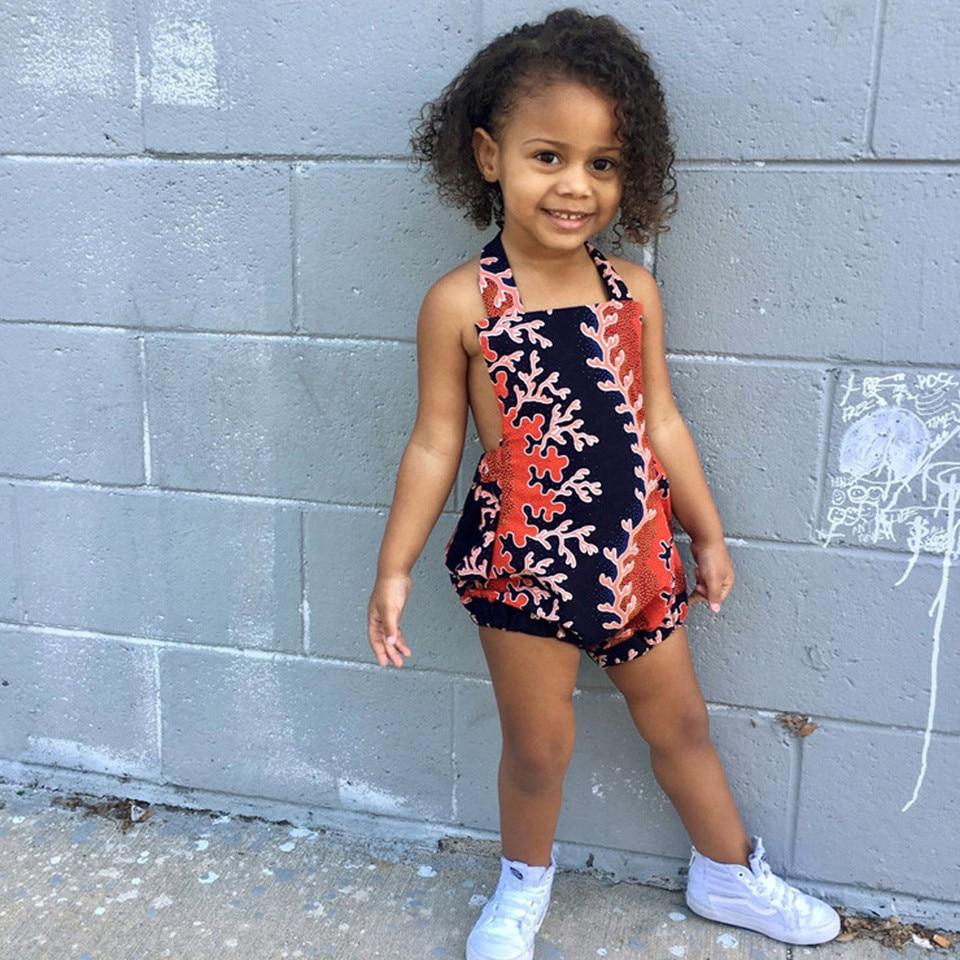 MUQGEW newborn baby girl clothes Baby Girls African Print Off Shoulder Hair Band