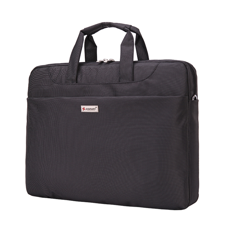 12-13.3 inch Laptop Bag Women Men Notebook Bag Shoulder Messenger Waterproof Computer Sleeve Handbag (Black)