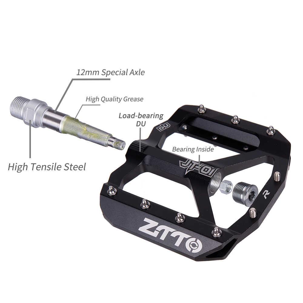 ZTTO MTB כביש אופני Ultralight אטום דוושות CNC רכיבה על אופניים חלק סגסוגת DH XC חלול אנטי להחליק מסבי Du מערכת הרי 12mm סרן