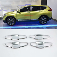 Car Accessories Exterior Decoration ABS Chrome Car Door Handles Bowl Cover Trim For Honda CRV 2018 Car Styling car accessories exterior decoration abs chrome lhd car door handles cover trim for honda crv 2018 car styling