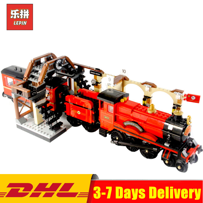 Lepin 16055 Harry Movie Potter The Legoingly 75955 Hogwarts Express Train Set Model Building Blocks Bricks Toys Christmas Gifts