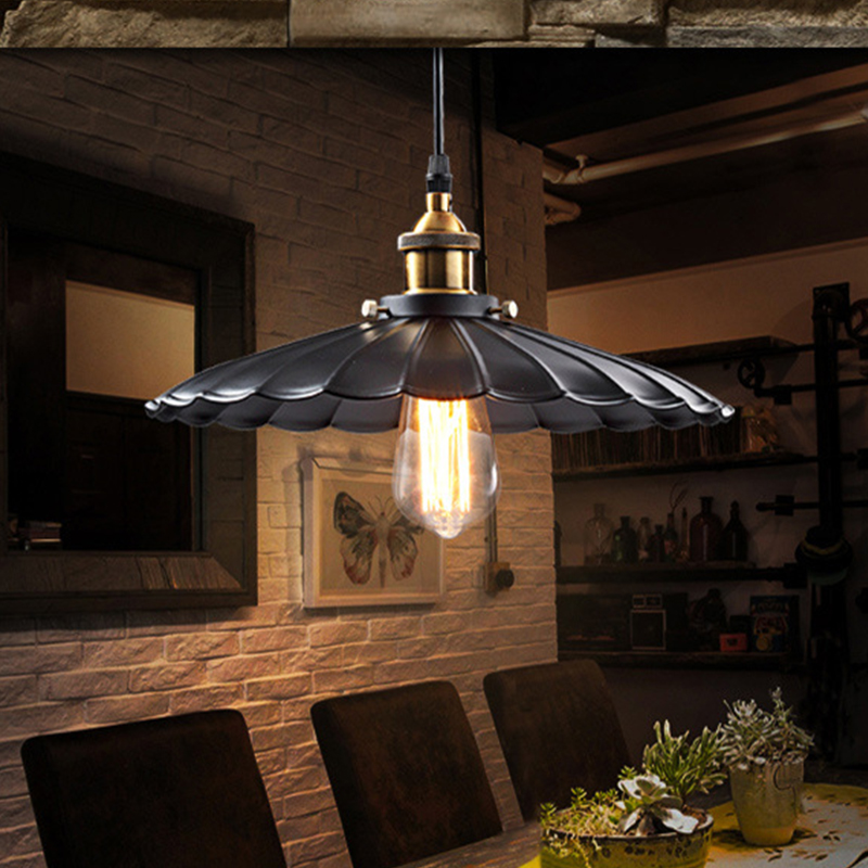 Vintage Industrial retro style Art chandelier LED pendant lamp Edison bulb American village Hanging Lamps luminaries black
